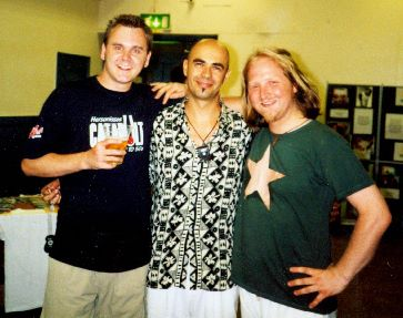 Pictured with Antonio-Forcione and the late Eric Roche