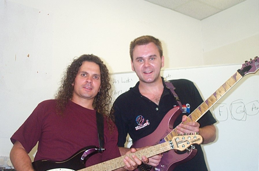Pictured with Vinnie Moore (UFO)